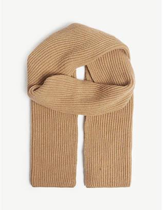 Johnstons Rib-knit cashmere scarf