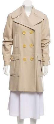 Burberry Double-Breasted Virgin Wool Coat