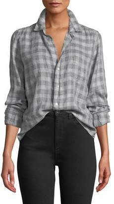 Frank And Eileen Long-Sleeve Plaid Linen Button-Down Top