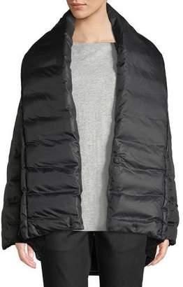 Eileen Fisher High Shawl-Collar Kimono Puffer Coat
