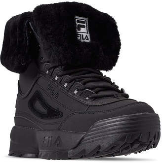 Fila Women Disruptor Shearling Sneaker Boots from Finish Line