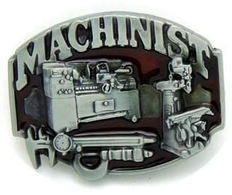SAM. Store Vintage Machinist Belt Buckle Cowboy Native American Motorcyclist (MACH-01)