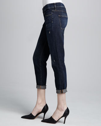 Vince Distressed Cuffed Relaxed Jeans