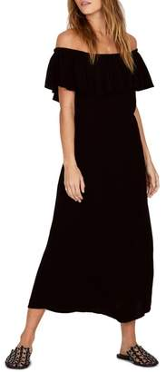 Amuse Society Vista Del Valle Off the Shoulder Ruffle Maxi Dress