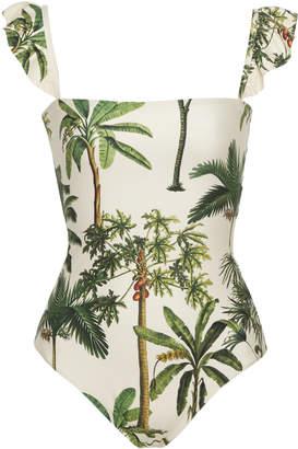 Agua Bendita Agua By Nativa Palm Tree-Print One-Piece Swimsuit