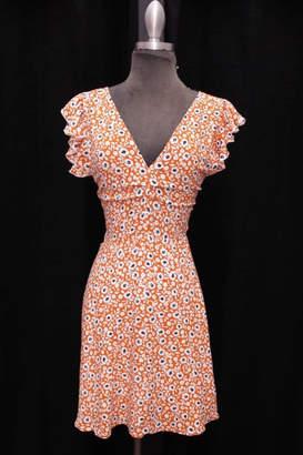 Olivaceous Floral Mini Dress
