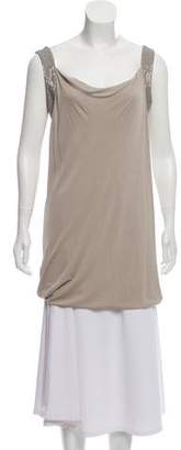 Alberta Ferretti Embellished Sleeveless Tunic