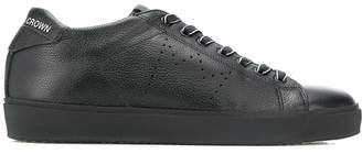 Leather Crown logo sneakers