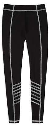 Terez Girls' Leggings with Contrast Stitching - Big Kid