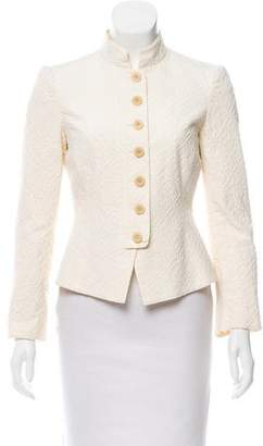 Armani Collezioni Structured Patterned Jacket