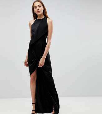 Aq/Aq AQ AQ Tall Tall Wrap Front Maxi Dress With Asymmetric Split Detail
