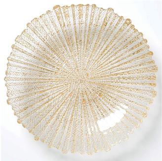 Vietri Rufolo Glass Large Serving Bowl, Gold
