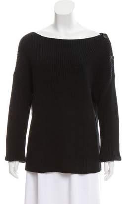 Fuzzi Rib Knit Long Sleeve Sweater