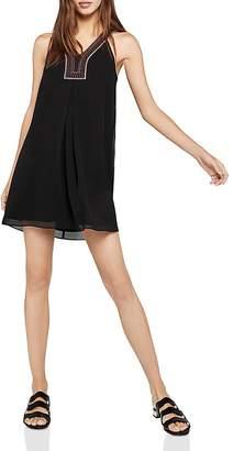 BCBGeneration Sleeveless Embroidered-Trim A-Line Dress
