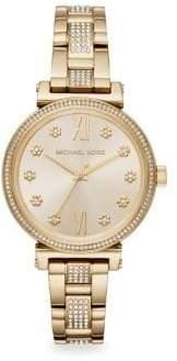 Michael Kors Mini Sofie Goldtone Bracelet Watch