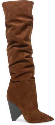 Saint Laurent Niki Suede Over-the-knee Boots