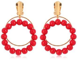Marni Beaded Hoop Earrings