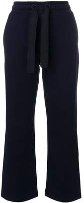 Moncler drawstring flared trousers