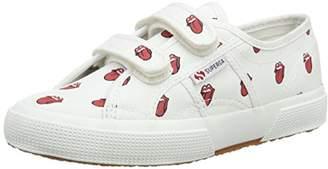 Superga Unisex Fancovj Kids Low-Top Sneakers, (904 White Red), 9.5 Child UK 27 EU