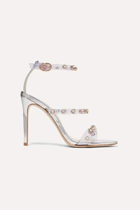 Sophia Webster Rosalind Crystal-embellished Pvc And Metallic Leather Sandals