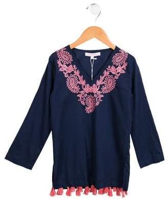OndadeMar Girls' Embroidered Tassel-Embellished Tunic w/ Tags