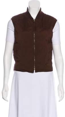 Loro Piana Quilted Zip-Up Vest Brown Quilted Zip-Up Vest