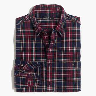 J.Crew Rugged elbow-patch shirt in red plaid