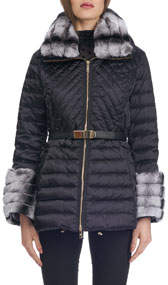Apres-Ski Quilted Jacket with Fur Trim