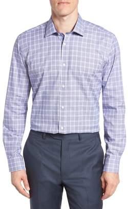 Ted Baker Royaltt Trim Fit Plaid Dress Shirt