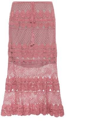 Anna Kosturova Marianne crocheted cotton skirt