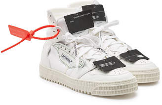 Off-White Leather and Fabric Off Court Sneakers