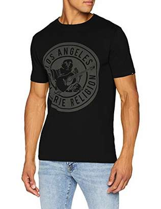 06bcaa804e ... True Religion Men's Crew Shirt Big Buddha T (Black 1001), ...