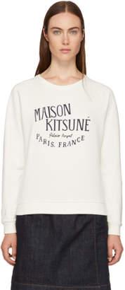 MAISON KITSUNÉ White Palais Royal Logo Sweatshirt