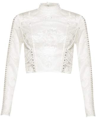 True Decadence Cropped Lace Top