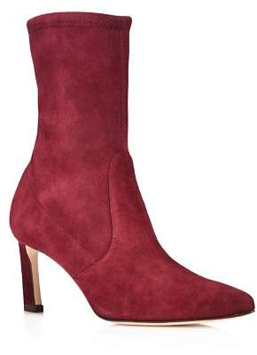 Stuart Weitzman Rapture Mid Calf Stretch Suede Booties