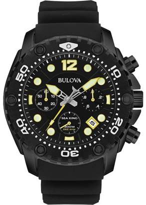 Bulova Sea King Rubber Chonograph Mens Watch 98B243
