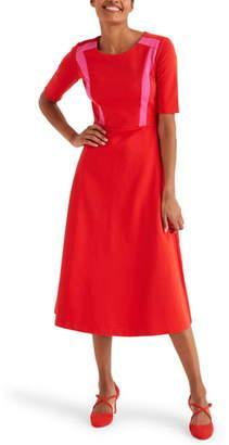 Boden Emily Ponte Fit & Flare Midi Dress