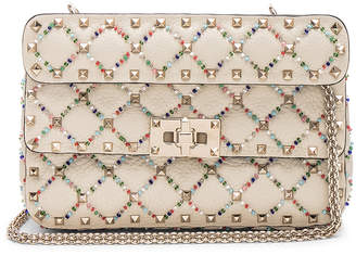 Valentino Spike It Small Shoulder Bag in Light Ivory | FWRD