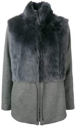 Fabiana Filippi shearling paneled short coat