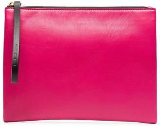 Marni Pink strap leather clutch bag