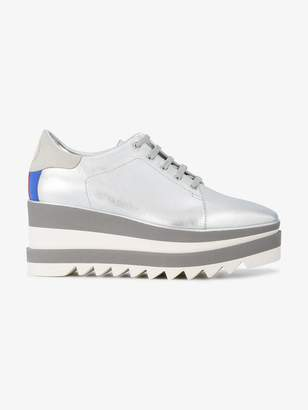 Stella McCartney Silver Sneak-Elyse platform sneakers