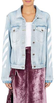 Off-White c/o Virgil Abloh Women's Denim Trucker Jacket $630 thestylecure.com