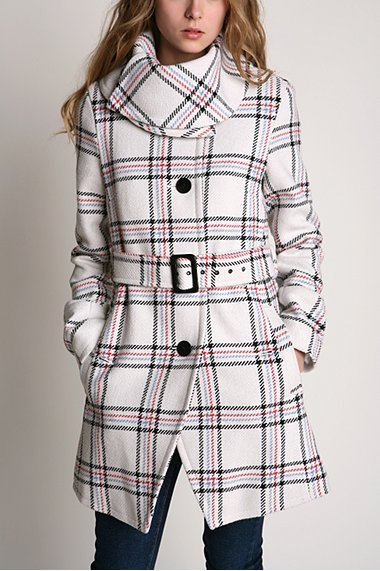 Kimchi Blue Plaid Cambridge Coat