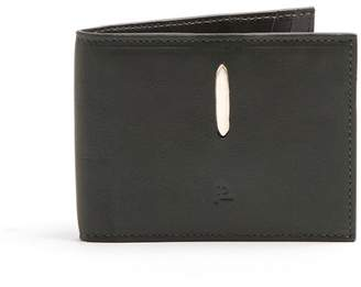 Lee Passavant And Detachable Money Clip Leather Bi Fold Wallet - Mens - Dark Green