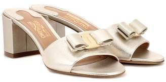 Salvatore Ferragamo Metallic leather sandals
