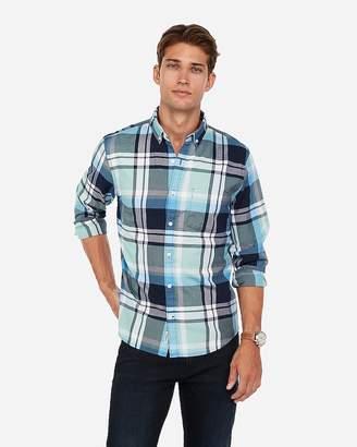Express Classic Plaid Button-Down Shirt