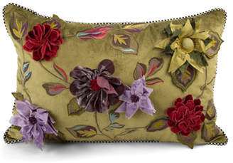 Mackenzie Childs MacKenzie-Childs Greengage Floral Lumbar Pillow