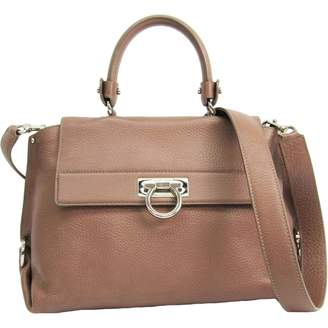 Salvatore Ferragamo Sofia Brown Leather Handbag d61684c76faf0