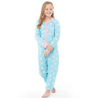 Board Angels Girls Jersey AOP Onesie Aqua/Pink