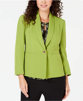Kasper One-Button Stretch Crepe Jacket